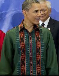 barrack obama mengenakan batik